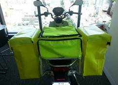 New pannier bag system in delivery