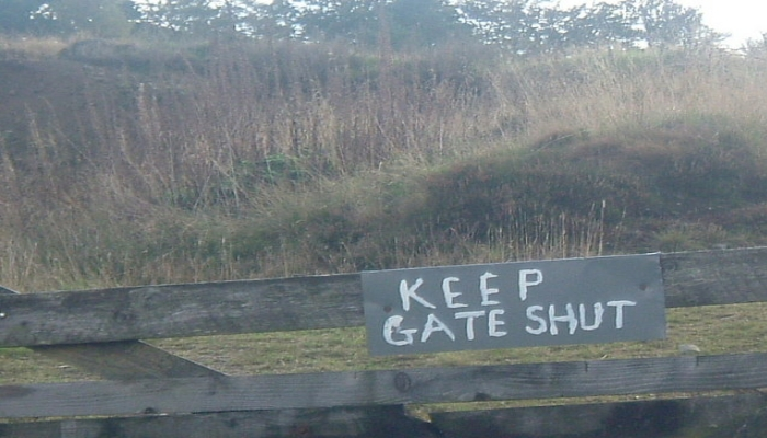 keep gate shut