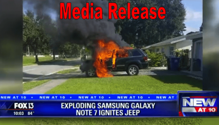 exploding samsung galaxy note 7